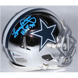 "Tony Dorsett Signed Cowboys Chrome Speed Mini Helmet Inscribed ""HOF '94"" (Beckett COA)"