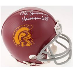 "O.J. Simpson Signed USC Trojans Mini Helmet Inscribed ""Heisman 68'"" (JSA COA)"