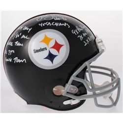 Jack Lambert Signed Steelers Full-Size Authentic On-Field Helmet with Multiple Inscriptions (JSA COA