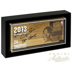 "Kobe Bryant Signed 4x8 Limited Edition 2013 NBA Global Games Floor Display Inscribed ""Black Mamba"" ("
