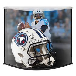 Marcus Ardel Taulauniu Mariota Signed Titans Full-Size Authentic On-Field Speed Helmet with Custom A