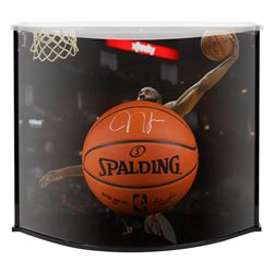 James Harden Signed Rockets NBA Official Game Ball With Curve Display Case (Fanatics Hologram)
