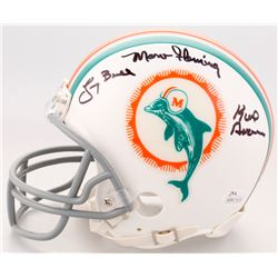 1972 Miami Dolphins Mini Helmet Team-Signed by (7) with Otto Stowe, Bob Heinz, Larry Ball, Karl Noon