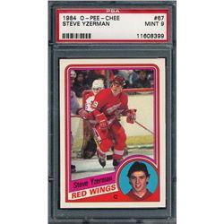 1984-85 O-Pee-Chee #67 Steve Yzerman RC (PSA 9)