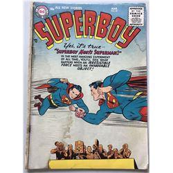 "1956 DC 1st Series ""Superboy Meets Superman"" #47 Comic Book"