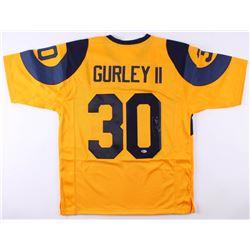 Todd Gurley II Signed Los Angeles Rams Jersey (Beckett COA)