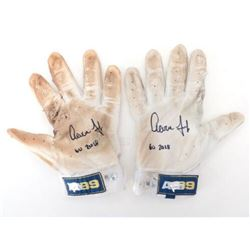 "Pair of (2) Aaron Judge Signed Game-Used Batting Gloves Inscribed ""GU 2018""  (Fanatics Hologram  MLB"