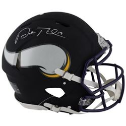 Adam Thielen Signed Vikings Custom Matte Black Full-Size Authentic On-Field Speed Helmet (Fanatics H