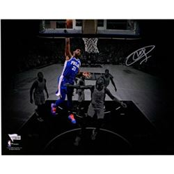 "Joel Embiid Signed 76ers ""Dunking"" 11x14 Photo (Fanatics Hologram)"