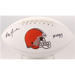"Ozzie Newsome Signed Browns Logo Football Inscribed ""HOF 99"" (JSA COA)"