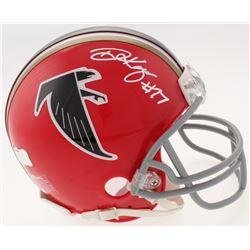 Damontae Kazee Signed Falcons Throwback Mini-Helmet (Radtke COA)