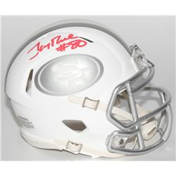 Jerry Rice Signed 49ers Mini White ICE Speed Helmet (Radtke COA)