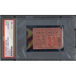 1924 Hilldale vs. Cuban Stars Negro League Baseball Ticket Stub (PSA Encapsulated)