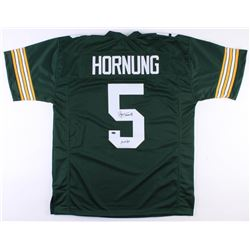 "Paul Hornung Signed Packers Jersey Inscribed ""HOF 86"" (Schwartz COA)"