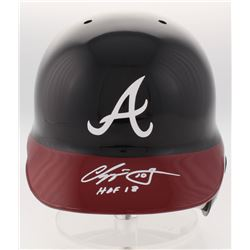 "Chipper Jones Signed Atlanta Braves Full-Size Batting Helmet Inscribed ""HOF 18"" (JSA COA)"