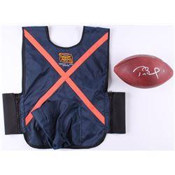 Tom Brady Signed Patriots LE Super Bowl XXXVIII Game-Used Football with Super Bowl XXXVIII Ball Boy