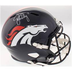 John Elway Signed Denver Broncos Full-Size Speed Helmet (Radtke COA)