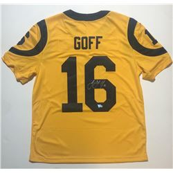 Jared Goff Signed Los Angeles Rams Nike Color Rush Limited Jersey (Fanatics Hologram)