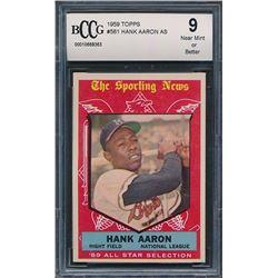1959 Topps #561 Hank Aaron All Star (BCCG 9)