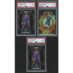 Lot of (3) PSA Graded Basketball Cards with (2) 2017-18 Panini Prizm #1 Markelle Fultz RC (PSA 9)  (