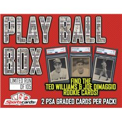 """1939  1940 """"Play Ball Box"""" (2) PSA Graded Cards Per Box! A HOF'er or PSA 6 in EVERY Mystery Bo"""
