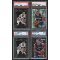 Lot of (4) PSA Graded 9 Zach LaVine Basketball Cards with (2) 2014-15 Select #84 RC, (1) 2014-15 Pan