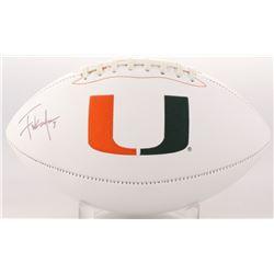 Frank Gore Signed Miami Hurricanes Logo Football (Beckett COA)