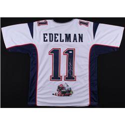 Julian Edelman Signed New England Patriots Jersey with Custom Stitched Photo (JSA COA)