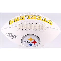 LeVeon Bell Signed Pittsburgh Steelers Logo Football (JSA COA)