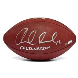 """Andrew Luck Signed LE """"Salute The Troops"""" Official NFL Football Inscribed """"COLTS NATION"""" (Panini COA"""
