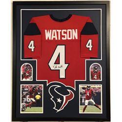 Deshaun Watson Signed Houston Texans 35x43 Custom Framed Jersey (JSA COA)