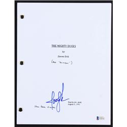"Joshua Jackson Signed ""The Mighty Ducks"" Movie Script (Beckett COA)"