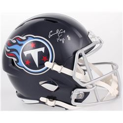 "Earl Campbell Signed Tennessee Titans Full-Size Speed Helmet Inscribed ""HOF 91"" (JSA COA)"