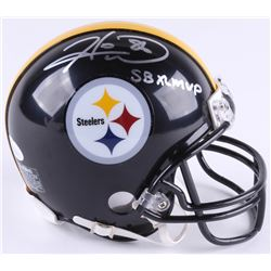 "Hines Ward Signed Pittsburgh Steelers Mini Helmet Inscribed 'SB XL MVP"" (JSA Hologram)"