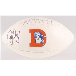 John Elway Signed Denver Broncos Throwback Logo Football (JSA COA  Elway Hologram)