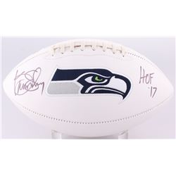 "Kenny Easley Signed Seahawks Logo Football Inscribed ""HOF '17"" (JSA COA)"