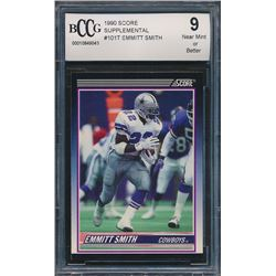 1990 Score Supplemental #101T Emmitt Smith RC (BCCG 9)