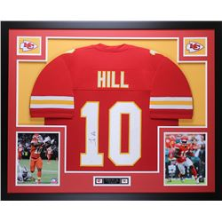 Tyreek Hill Signed Chiefs 35x43 Custom Framed Jersey (JSA COA)