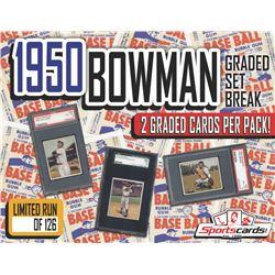 1950 BOWMAN BASEBALL COMPLETE SET BREAK! - Mystery Box - (2) GRADED Cards Per Pack!