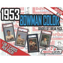 1953 BOWMAN COLOR BASEBALL COMPLETE SET BREAK! - Mystery Box - (1 or 2) GRADED Cards Per Pack!