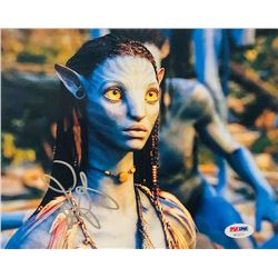 "Zoe Saldana Signed ""Avatar"" 8x10 Photo (PSA COA)"