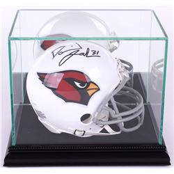Premium Mini-Helmet Glass Display Case with Black Suede Black Wood Base  Mirrored Back