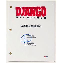 "Christoph Waltz Signed ""Django Unchained"" Full Movie Script (PSA COA)"