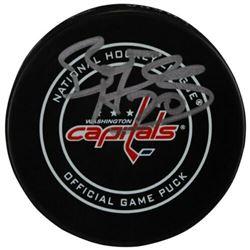 Braden Holtby Signed Washington Capitals Logo Official Game Hockey Puck (Fanatics Hologram)