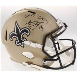 "Marshon Lattimore Signed New Orleans Saints Full-Size Speed Helmet Inscribed ""2017 DROY"" (Radtke COA"