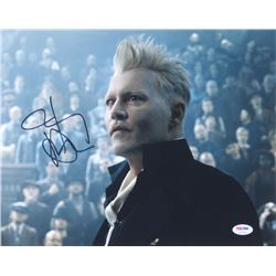 """Johnny Depp Signed """"Fantastic Beasts And Where To Find Them"""" 11x14 Photo (PSA COA)"""