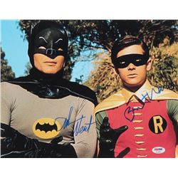 "Adam West  Burt Ward Signed ""Batman"" 11x14 Photo Inscribed ""Robin"" (PSA COA)"