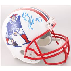 Rob Gronkowski Signed New England Patriots Full-Size Throwback Helmet (Radtke COA)