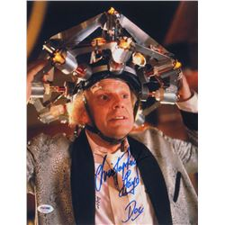 "Christopher Lloyd Signed ""Back to the Future"" 11x14 Photo Inscribed ""Doc"" (PSA COA)"