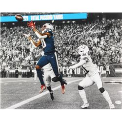 "Josh Gordon Signed New England Patriots 16x20 Photo Inscribed ""TB 500th TD"" (JSA COA)"
